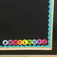 Editable Neon Rainbow Bright Circle Bulletin Board Letters, Numbers, & Symbols