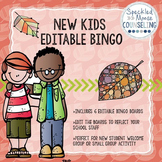 Editable New Student Bingo School Counseling Group Activity