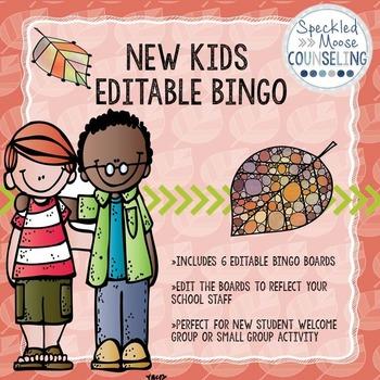 Editable New Kids Group Bingo