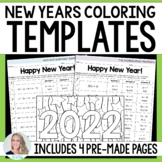Editable New Years Coloring Pages