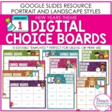 Editable New Years Themed Digital Choice Boards