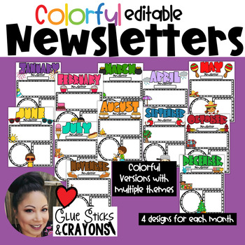 Editable Newsletter Templates for the Year!