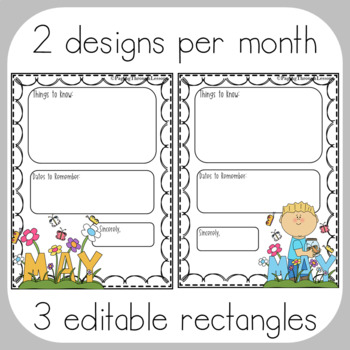 Editable Newsletters ~ Doodle Border Edition