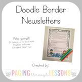 Editable Newsletters ~ Doodle Border Edition