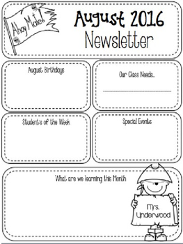 Editable Newsletter 2 Versions