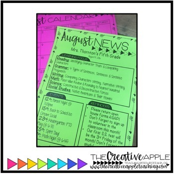 Editable Newsletter & Calendar Template