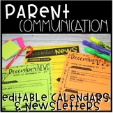 Editable Newsletter & Calendar Template