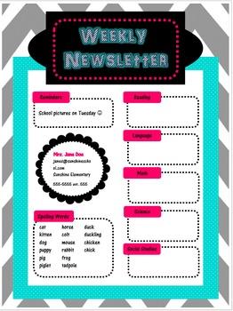 Editable Newsletter - Chevron