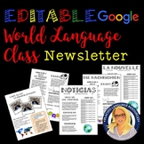 Editable Syllabus / Newsletter Google / PPT Template (Spanish, French, German)