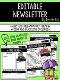 Editable Newsletter: Monthly Kids Themed