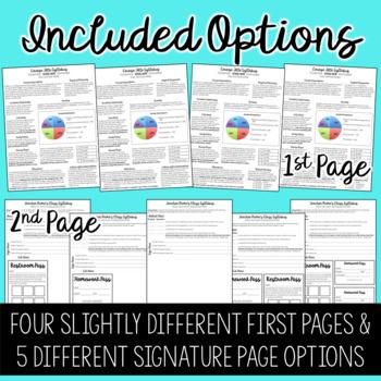 Editable Newsletter Style Class Syllabus