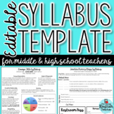 Editable Newsletter Style Class Syllabus