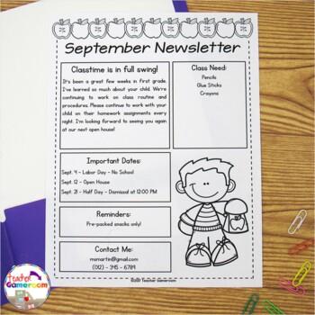 Editable Newsletter Templates