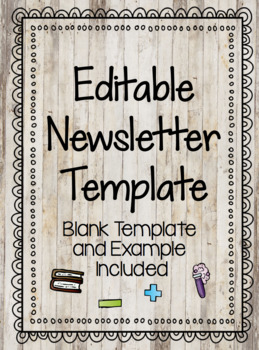Editable Newsletter Template