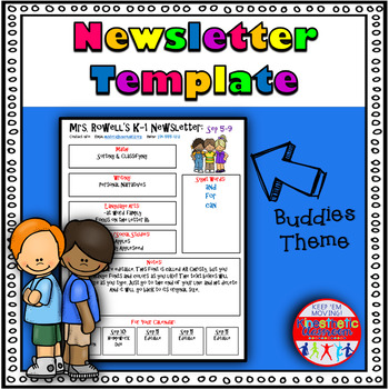 Editable Newsletter Template - Buddy Themed