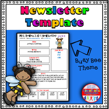 Editable Newsletter Template - Busy Bee Themed