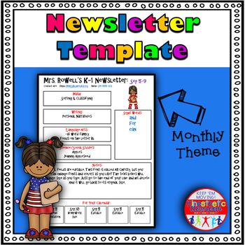 Editable Newsletter Template - Clipboard Kids