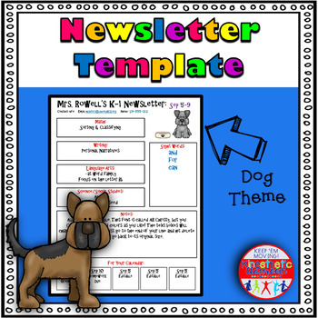 Editable Newsletter Template - Dog Themed
