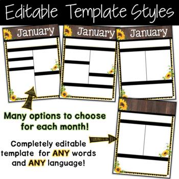 Editable Newsletter Template Farmhouse Sunflower