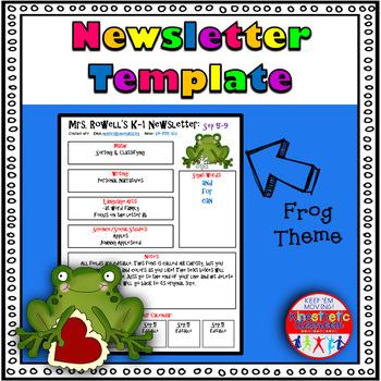 Editable Newsletter Template - Frog Themed