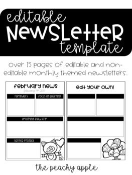 Editable Newsletter Template [Monthly Themed]