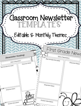 Newsletter Template {Editable & Monthly themes}