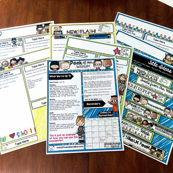 Digital and Printable Editable Newsletter Templates