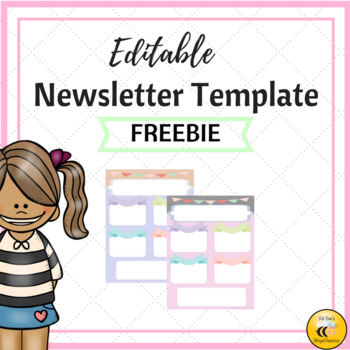 Editable Newsletter Template (Pastel Colors)
