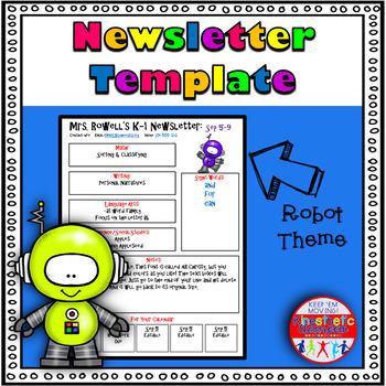Editable Newsletter Template - Robot Themed
