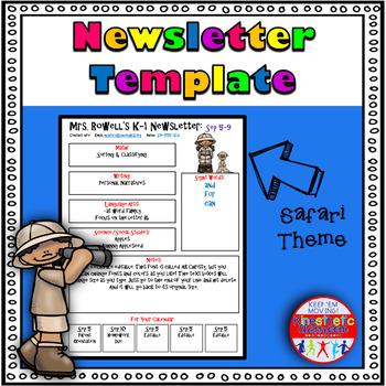 Editable Newsletter Template - Safari Themed