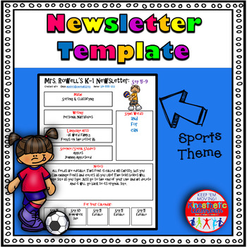 Editable Newsletter Template - Sports Themed