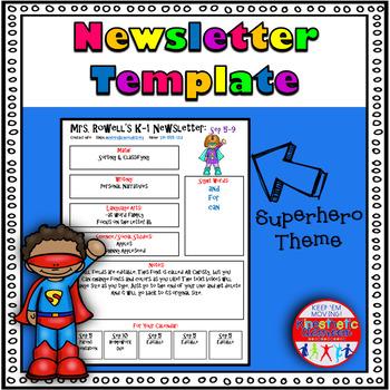 Editable Newsletter Template - Superhero Themed