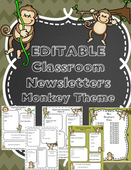 Editable Newsletter Template and Class List Monkey Theme