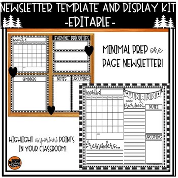 Editable Newsletter Template and Display Kit