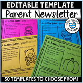 Editable Parent Weekly Letter