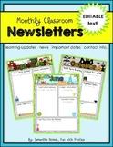 Editable Newsletter Template: weekly, monthly, seasonal