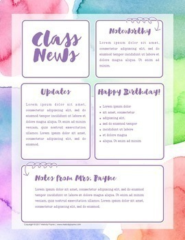 Editable Newsletter Templates {Realistic Watercolor Newsletter Designs}
