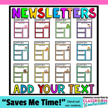 Teacher newsletter templates editable newsletters by for Free editable newsletter templates for teachers