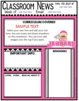 Teacher Newsletter Templates: Editable Newsletters