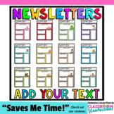 Teacher Newsletter Templates: Editable Newsletters