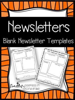 editable newsletter templates by sleepless in second grade tpt