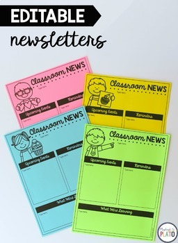 Editable Newsletter Templates & Reminder Notes