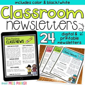 Newsletter Templates Editable (Digital & Printable)