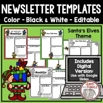 Christmas Newsletter Templates Editable