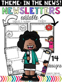 Editable Newsletter Templates-In the News Theme