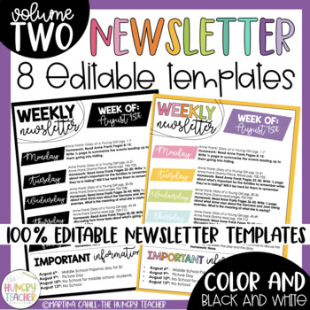 Editable Newsletter Templates Infographic Newsletters