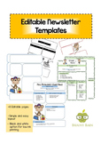 Editable Newsletter Templates: Monkey Themed