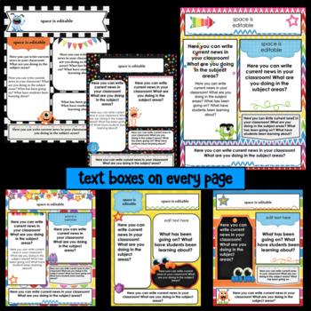 Editable Newsletter Templates ~ Monster Theme