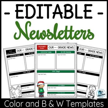 Editable Newsletter Templates (Monthly & Weekly)