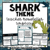 Shark Theme Newsletter Templates | Ocean Theme | Nautical Theme| Editable